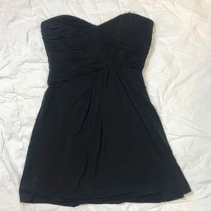 BCBG Maxazria Black Strapless Cocktail Dress 10